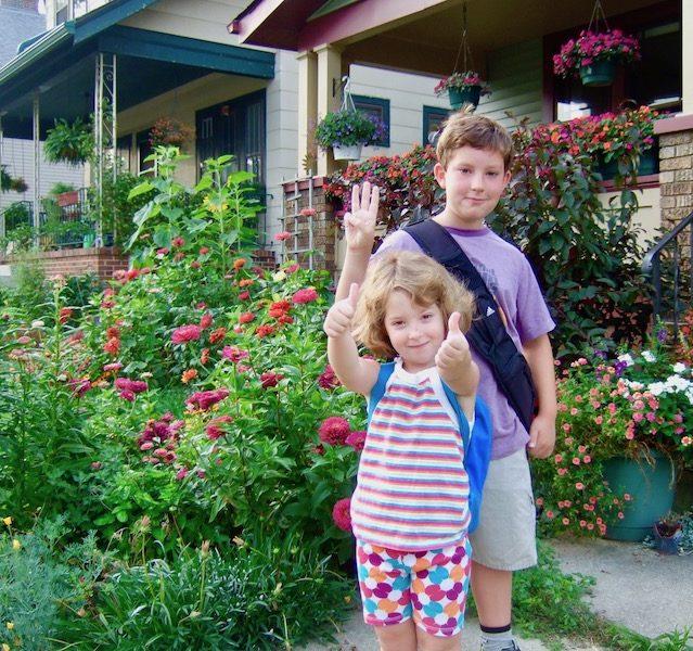 Urban garden and kids