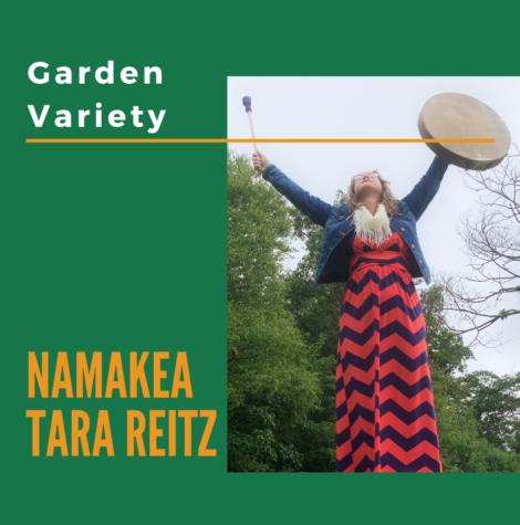 Namakea raises drum to the sky