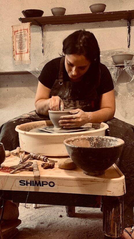 Marisa Ruglio making pottery