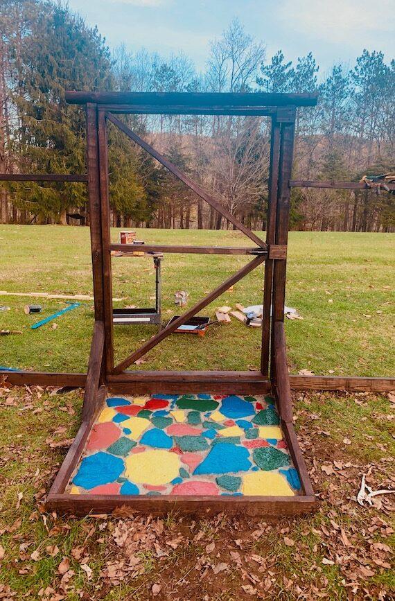 Agloe Farm colorful garden gate